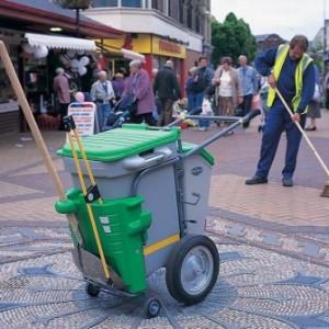 Carucioare pentru curatenie stradala